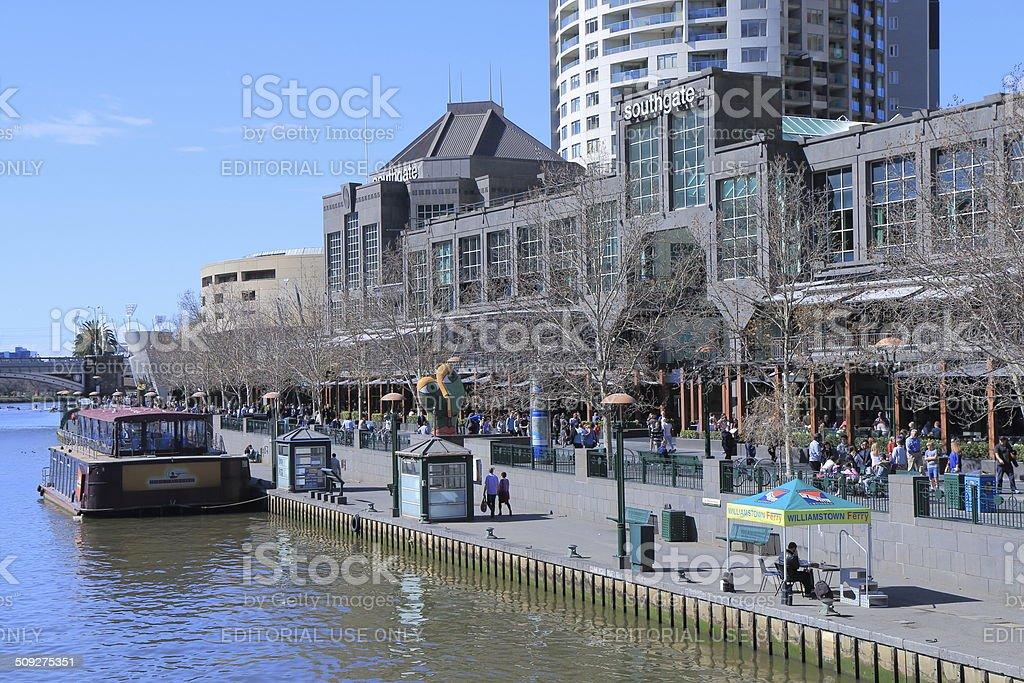 Melbourne Southbank stock photo