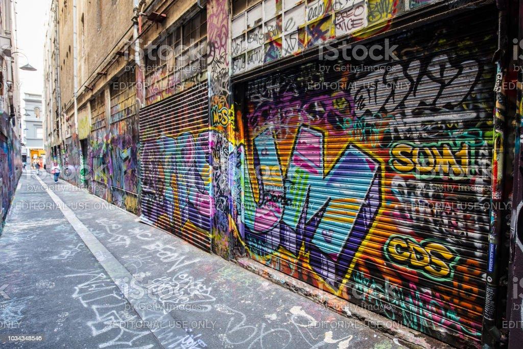 Melbourne Street Art stock photo