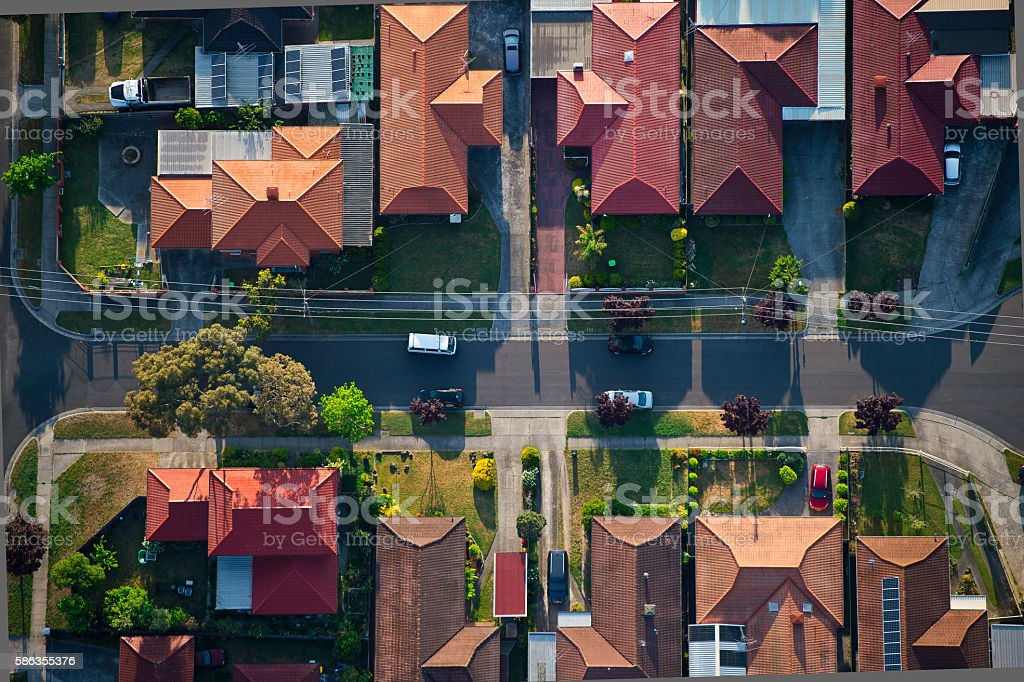 Melbourne suburbs 2 stock photo