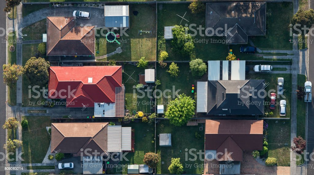 Melbourne suburbs  8 stock photo