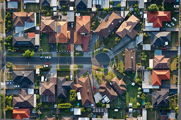 Melbourne suburbs stock photo