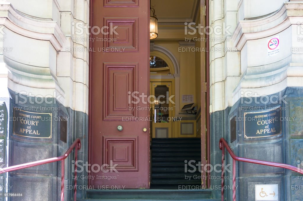 Melbourne Supreme court Court of Appeal building entrance stock photo
