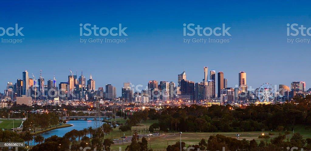 Melbourne, the Maribyrnong River and Footscray Park stock photo