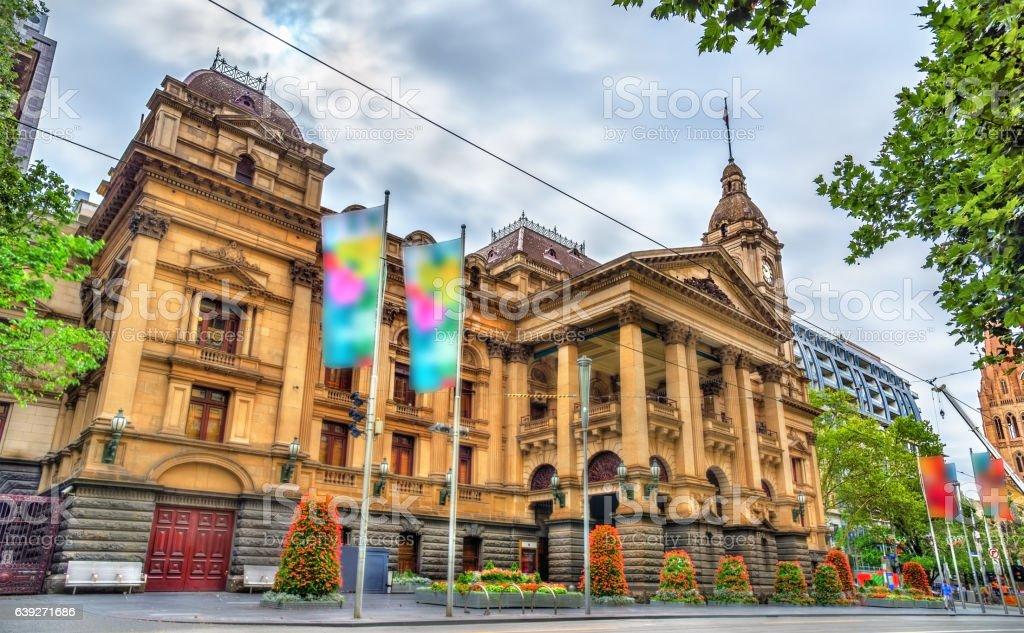 Melbourne Town Hall in Australia stock photo
