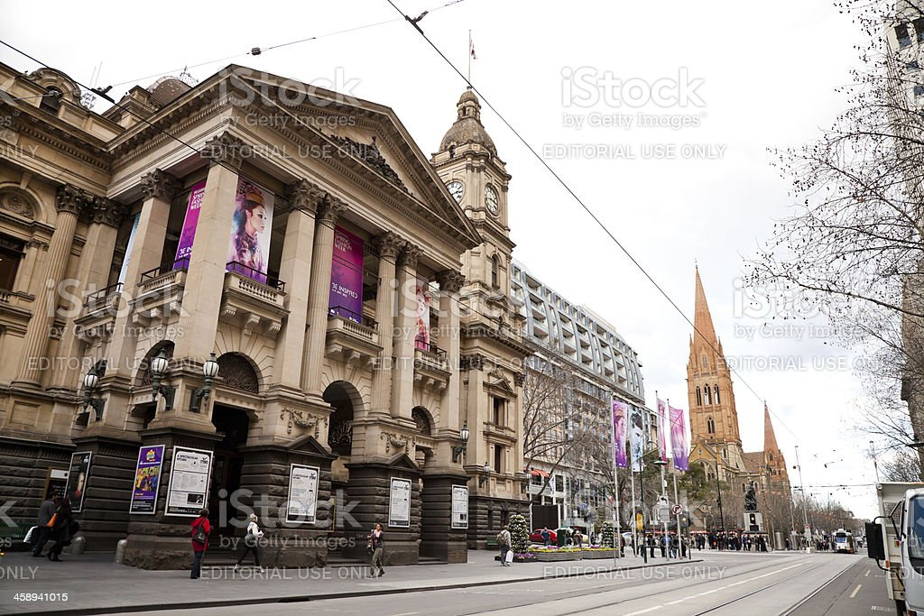 Melbourne Town Hall stock photo