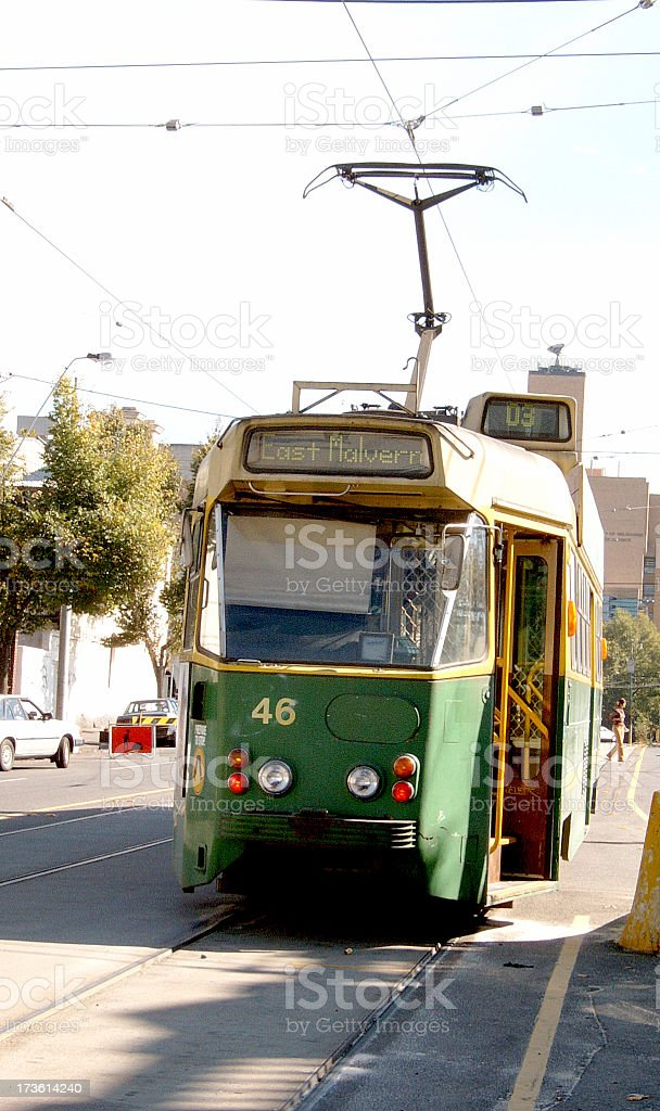melbourne tram royalty-free stock photo