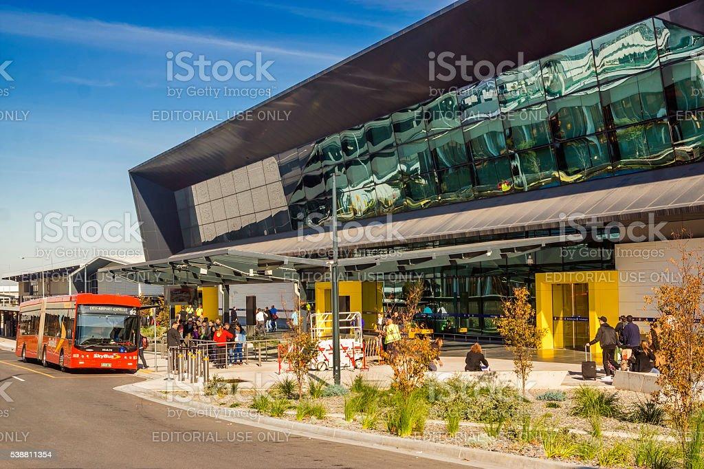 Melbourne Tullamarine Airport, Terminal 4 stock photo