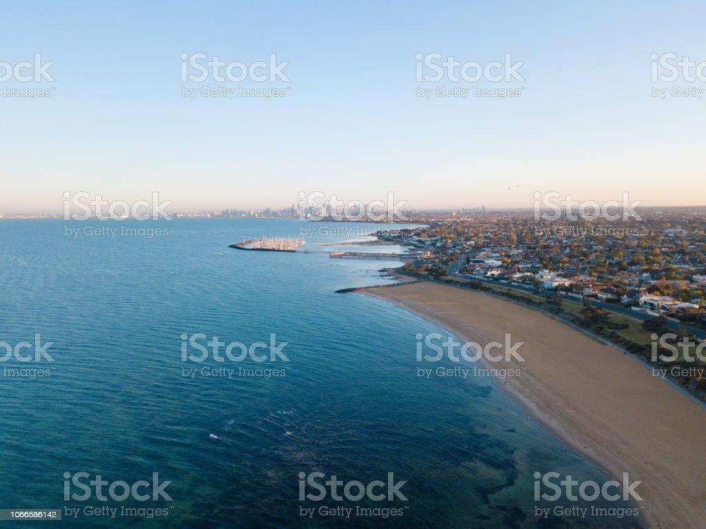 Vue de Melbourne à distance - Photo