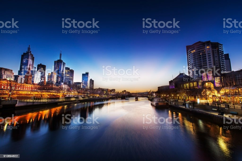 Melbourne - World's Most Liveable City stock photo