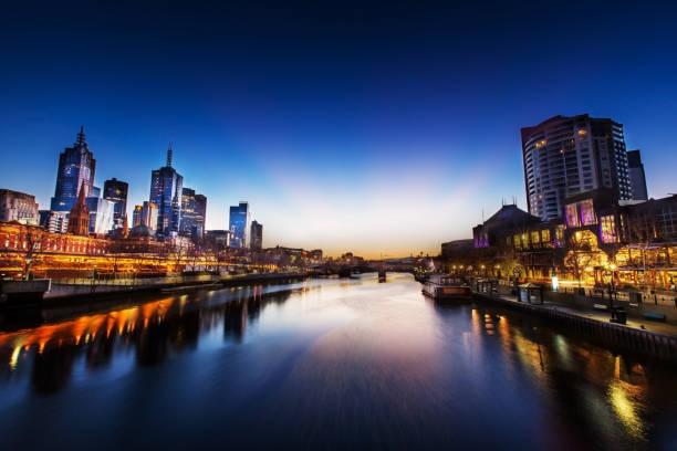 Melbourne - World's Most Liveable City stock photo