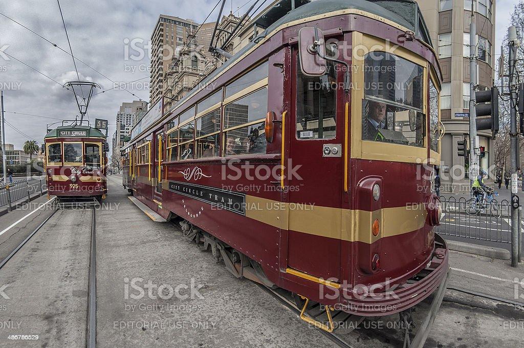 Melbourne's Free Tourist Trams stock photo