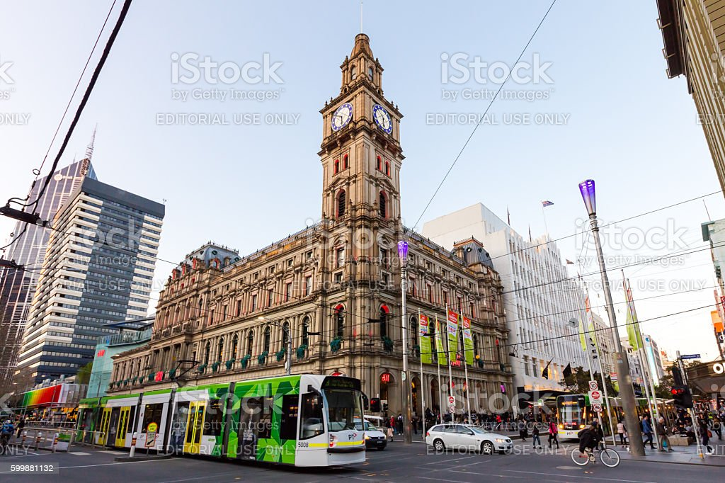 Melbourne's GPO Building stock photo