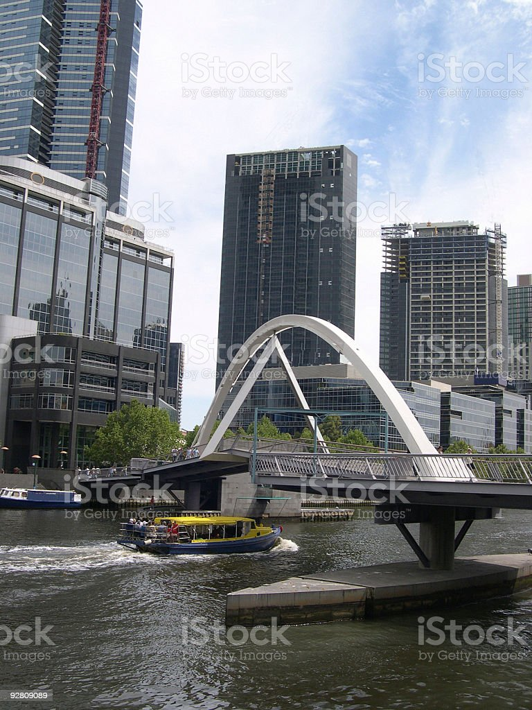 Melbourne's Yarra River & Southbank royalty-free stock photo