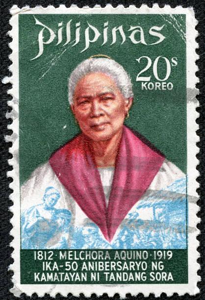 Melchora Aquino de Ramos stamp stock photo