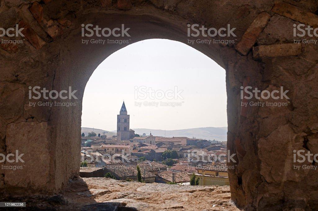 Melfi (Potenza, Basilicata, Italy) - Panoramic view from the castle stock photo