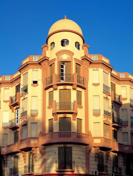 Melilla Art Deco Building stock photo