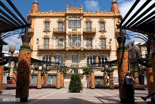 Situated in Plaza Menendez Pelayo this Art Deco building was built in 1915 by Architect Enrique Nieto. It features floral decoration, ornamental tops a clear influence of the Catalan Modernisme.