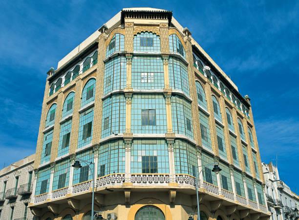 Melilla Casa de los Cristales Building stock photo