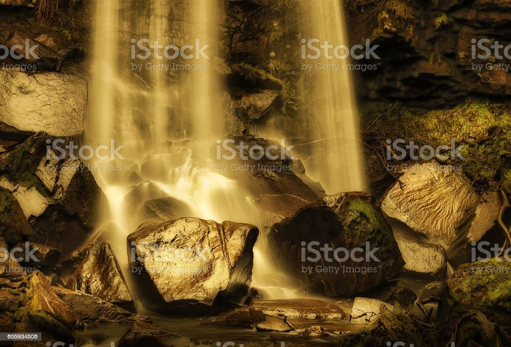 Melincourt waterfall stock photo