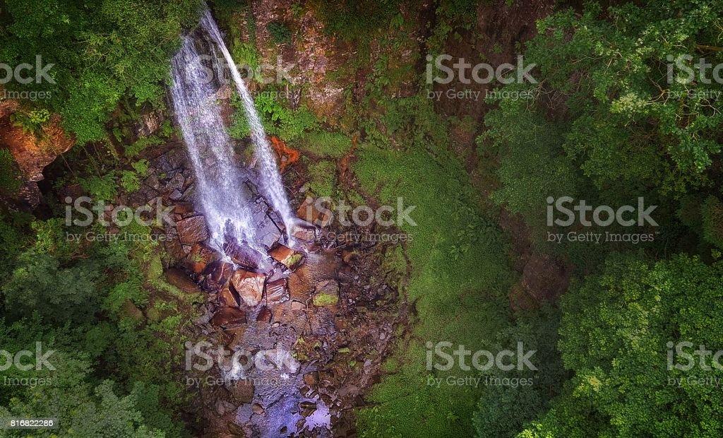 Melincourt waterfall Resolven stock photo