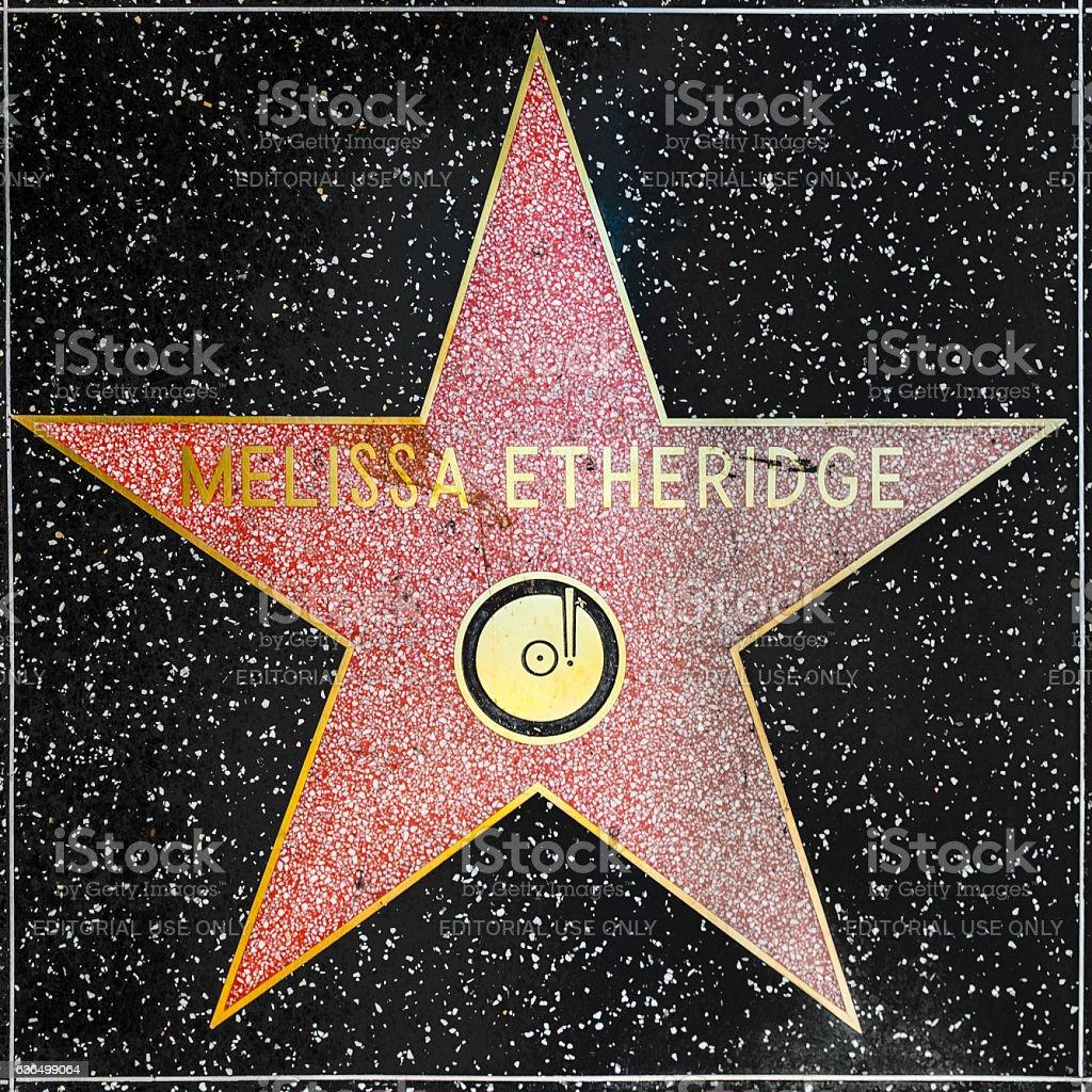 Melissa Etheridges star on Hollywood Walk of Fame stock photo
