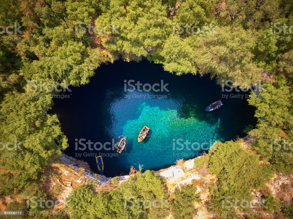 Melissani Cave - Kefalonia stock photo