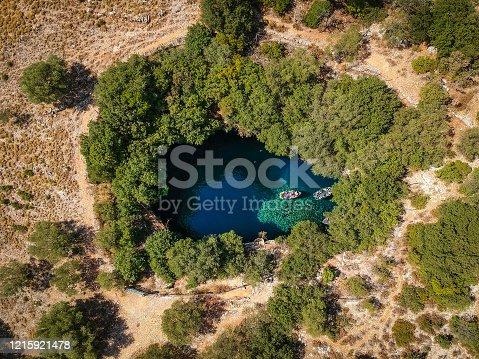 823335112 istock photo Melissani Lake Cave 1215921478