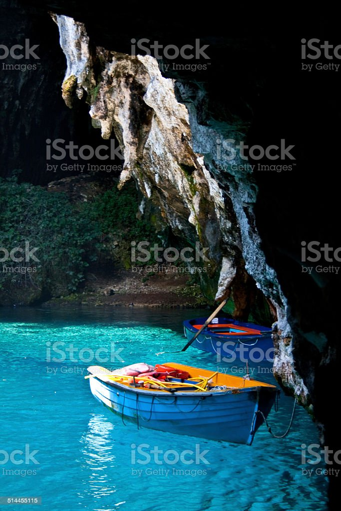 Melissani Lake, Kefalonia stock photo