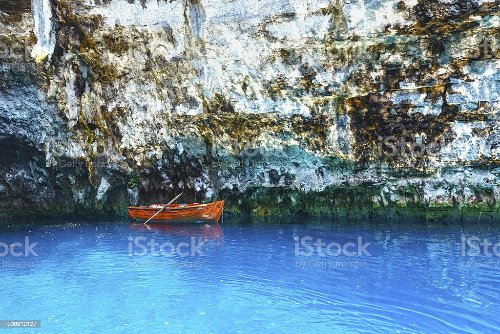 Melissani Lake (Kefalonia, Greece) stock photo