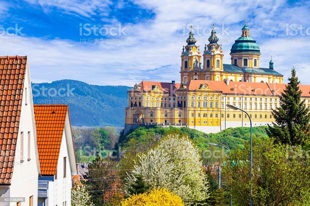 Melk abbey -  Austria, popular touristic attraction stock photo