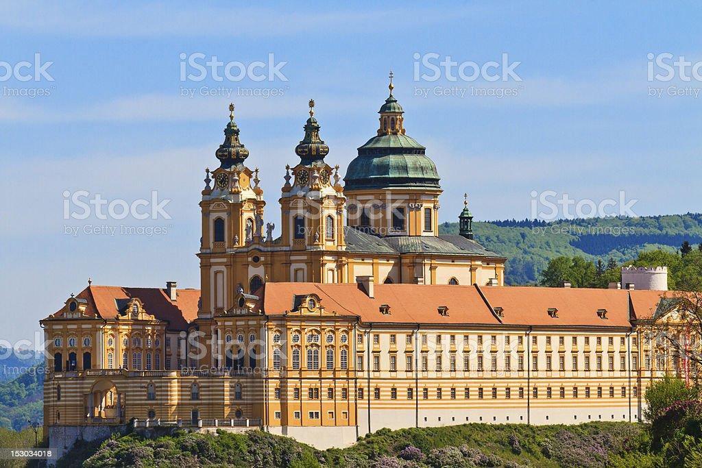 Melk - Famous Baroque Abbey (Stift Melk), Austria stock photo