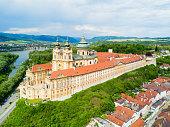 istock Melk Monastery aerial view 943703566