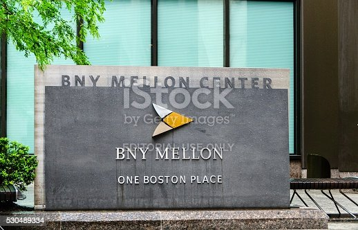 Boston, USA - June 8, 2012: The BNY Mellon Center in downtown Boston, Massachusetts. BNY Mellon is a financial services firm formed in 2007 through the merger of Bank of New York and Mellon.