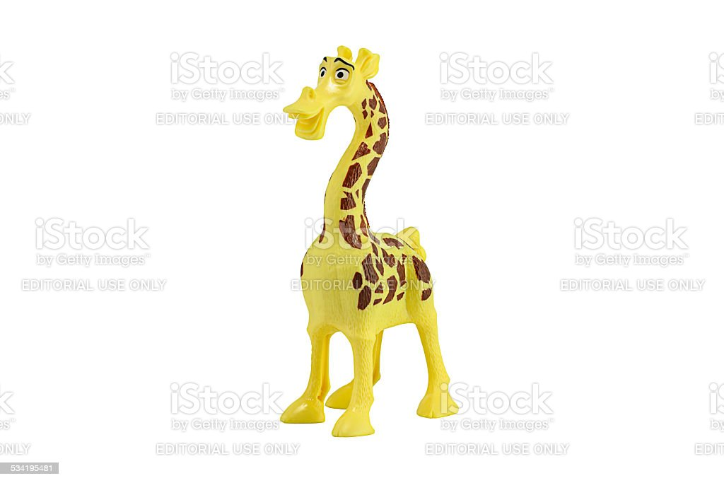 Melman giraffe main toy character form madaguscar film stock photo