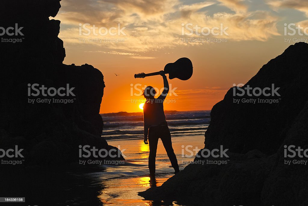 Melodious Sunset stock photo