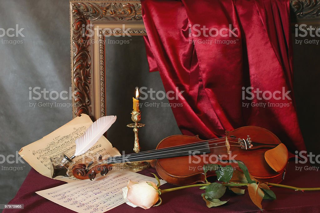 Melody for a violin royalty-free stock photo
