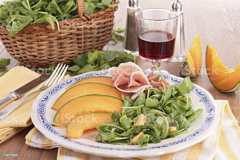melon and salad royalty-free stock photo