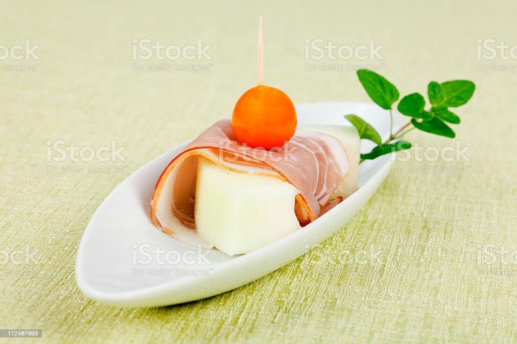 Melon canape royalty-free stock photo