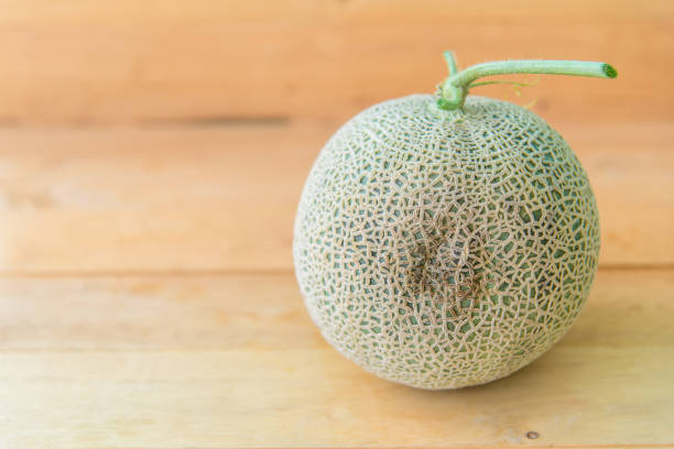 melon Damaged by bacteria stock photo