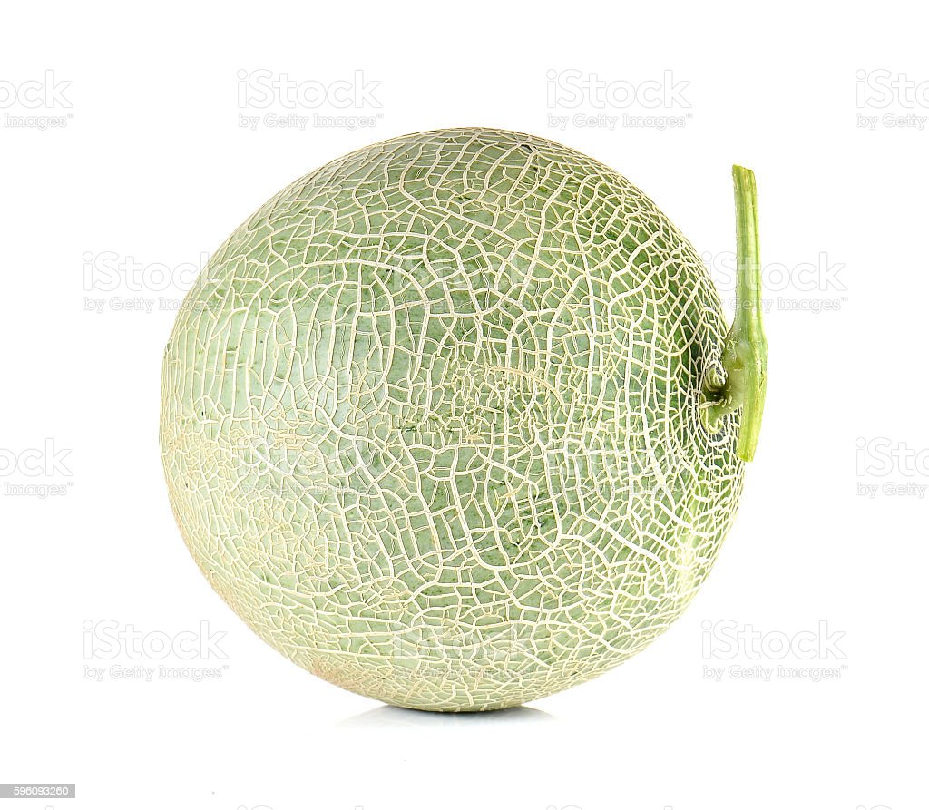 Melon full ball on white background. Lizenzfreies stock-foto