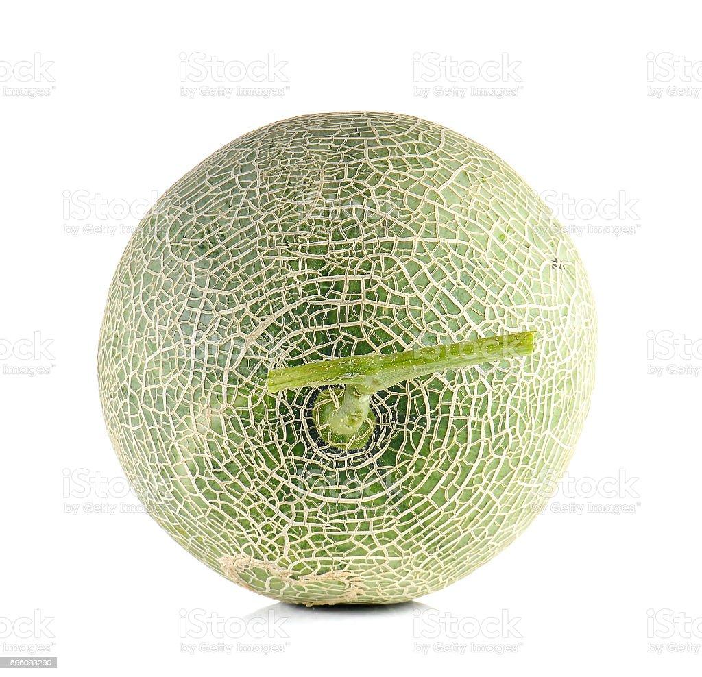 Melon full ball on white background. royalty-free stock photo