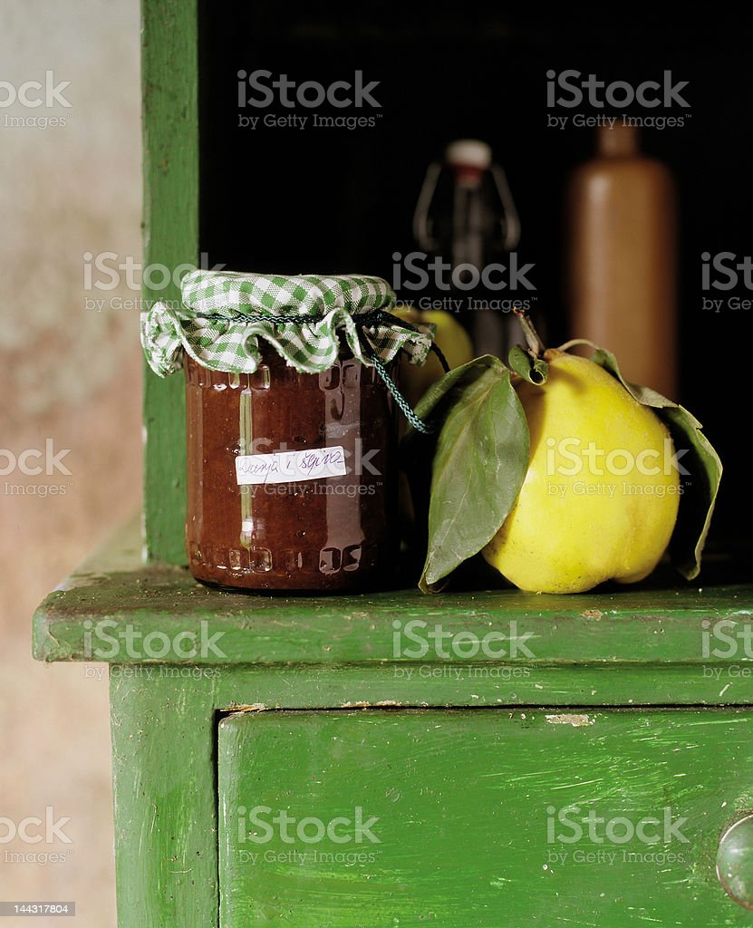Melon jam in glass jar royalty-free stock photo