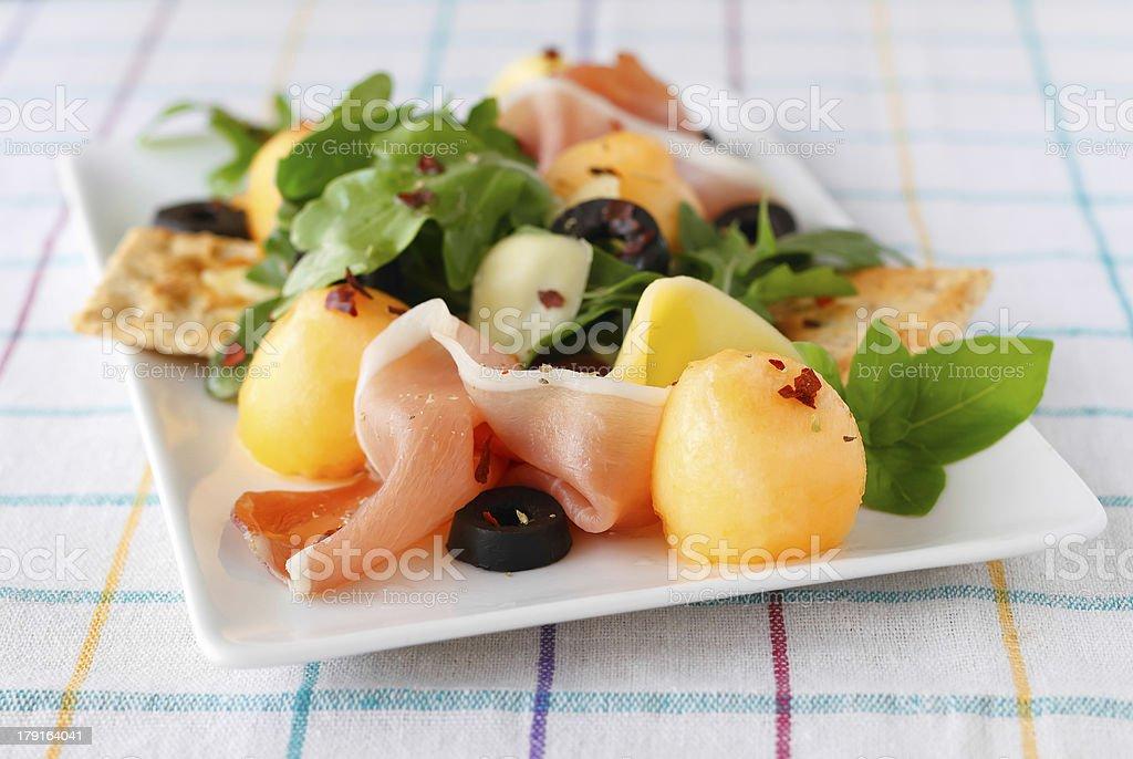Melon salad royalty-free stock photo