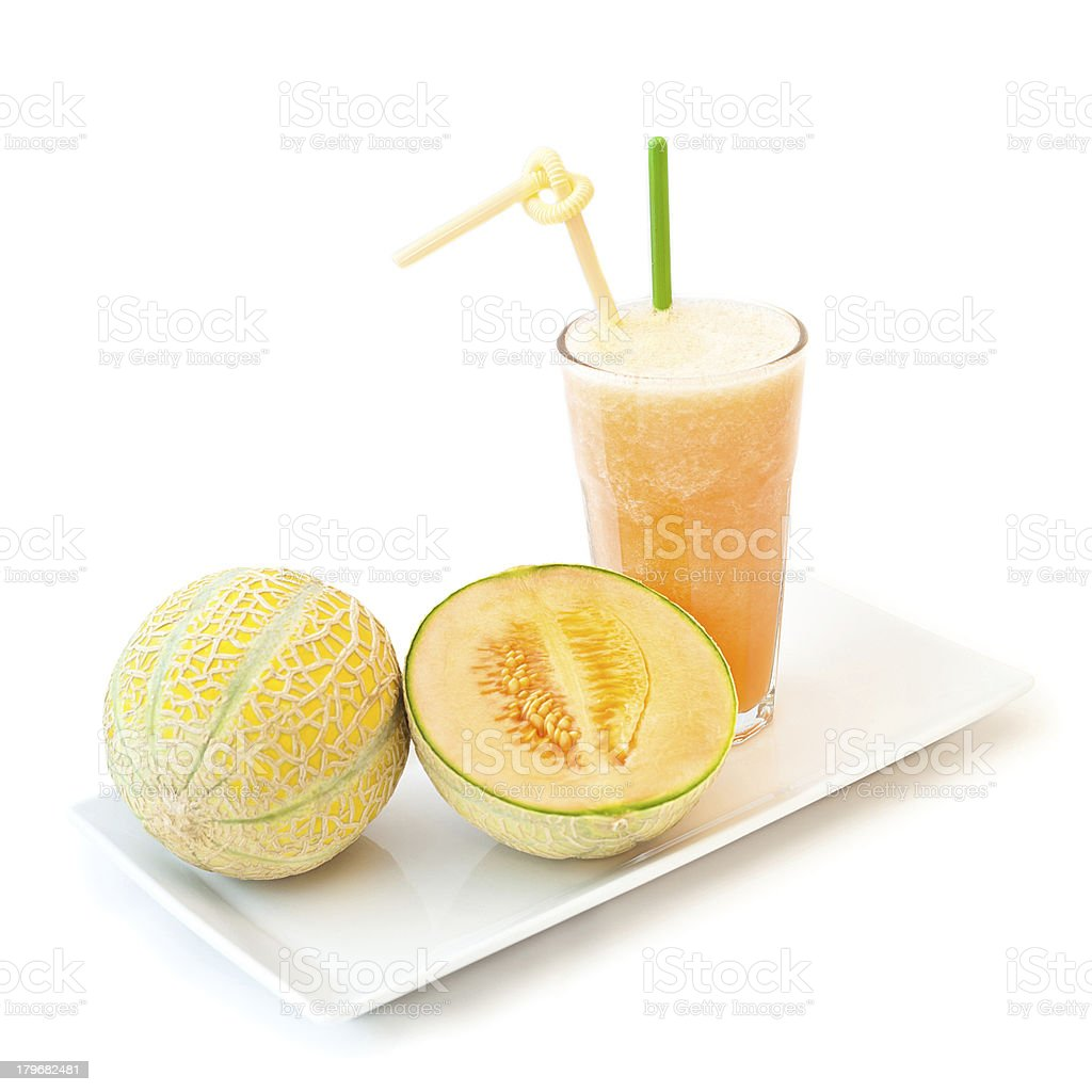 Melon smoothie royalty-free stock photo