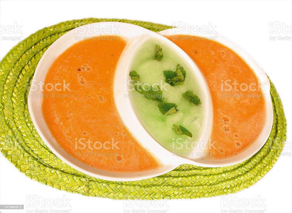 Melon soup stock photo