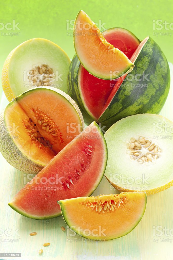 melons and watermelon royalty-free stock photo