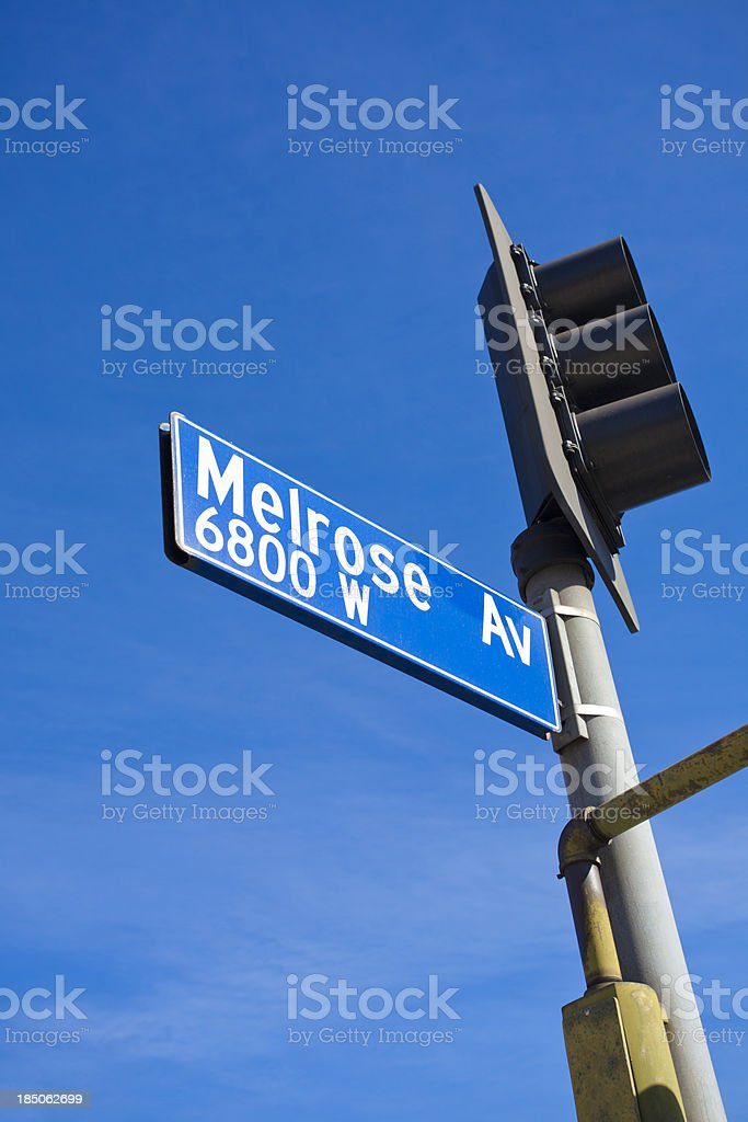 Melrose Ave stock photo