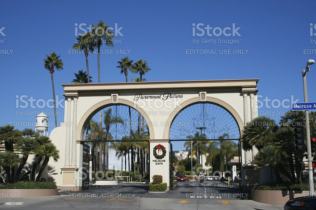 Melrose Gate of Paramount Pictures studio lot, Los Angeles stock photo
