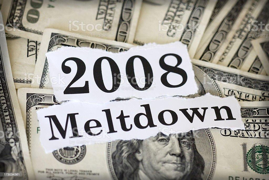 meltdown 2008 stock photo