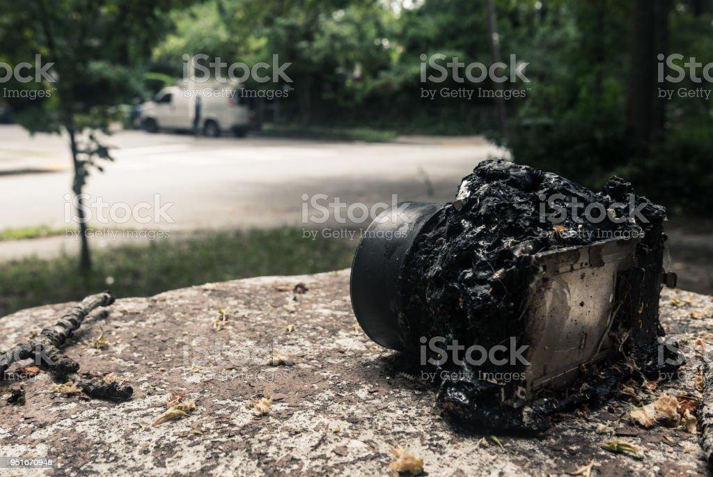 Melted Camera stock photo
